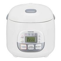 Toshiba หม้อหุงข้าวดิจิตอล ความจุ 0.54 ลิตร รุ่น RC-5MM(N)A - White/Grey