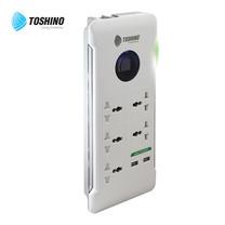 Toshino รางปลั๊กไฟ 5 ช่อง 1 สวิตช์ 2 USB (2.4A+1A) ยาว 1.8 เมตร S9P525NV
