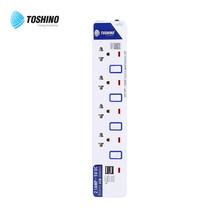 Toshino รางปลั๊ก มอก. 4 ช่อง และ 2 USB ป้องกันไฟกระชาก สายยาว 3 เมตร ET-914USB