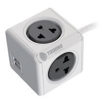 Toshino ปลั๊กไฟ Power Cube 4 ช่อง 2 USB ยาว 1.5 เมตร 4800/THEUPC.