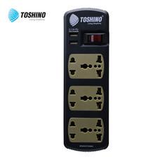 Toshino รางปลั๊กไฟ 6 ช่อง 1 สวิตช์ USB (2.1A) ยาว 2.7 เมตร รุ่น C6-USB