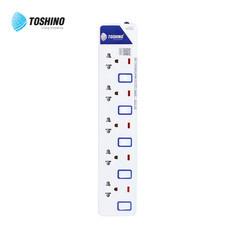 Toshino รางปลั๊ก มอก. 5 ช่อง ป้องกันไฟกระชาก สายยาว 5 เมตร ET-9155M