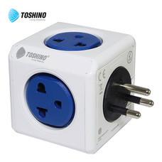 Toshino ปลั๊กไฟ Power Cube 4 ช่อง 2 USB 4600/THOUPC