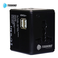 Toshino Travel Adapter 4in1 2 USB DE-206
