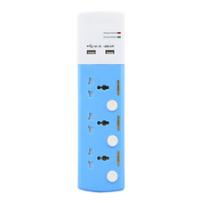 Toshino ปลั๊กไฟ 3 ช่อง 3 สวิตช์ USB (2.1A) ยาว 3 เมตร รุ่น TSP3W-USB