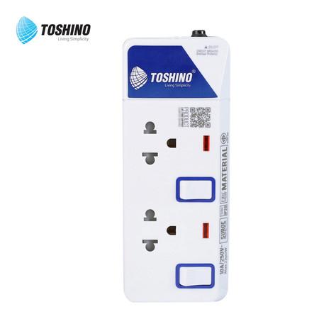 Toshino รางปลั๊ก มอก. 2 ช่อง ป้องกันไฟกระชาก สายยาว 3 เมตร ET-912