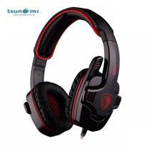 Tsunami GPOWER SADES 3.5mm Stereo PC Gaming Headset with Mic SA-708 - RED