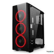 Tsunami Unlimited 3D+ Double-Ring LED Fan Super ATX Gaming Case KR