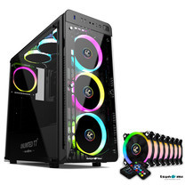 Tsunami Unlimited Series T7+ Gaming Case (Black) with Circle RGB Cooling fan X7