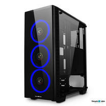 Tsunami Unlimited 3D+ Double-Ring LED Fan Super ATX Gaming Case KB