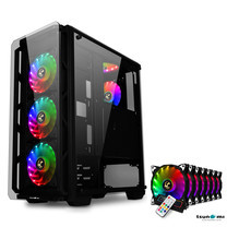 Tsunami Hunter Eagle H9 KK Tempered Glass Frontal Hanger ATX Gaming Case with Rainbow x7