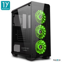 Tsunami Unlimited SKY+ LED Fan Super ATX Gaming Case KGN