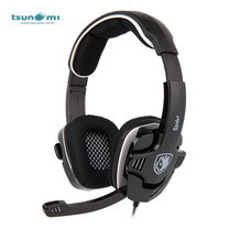 Tsunami SPIDER SADES Video Gaming Headset with Mic SA-922 - BLACK