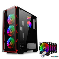 Tsunami Hunter Eagle H9 KR Tempered Glass Frontal Hanger ATX Gaming Case with Rainbow x5