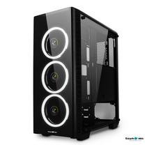 Tsunami Unlimited 3D+ Double-Ring LED Fan Super ATX Gaming Case KW