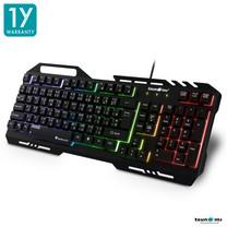 Tsunami GK-10 Semi-Mechanical RGB Alloy Panel Backlight Gaming USB Wired Keyboard