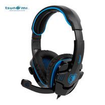 Tsunami GPOWER SADES 3.5mm Stereo PC Gaming Headset with Mic SA-708 - BLUE