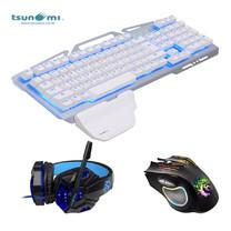 Tsunami E-sport Gaming Gear Combo 3in1 (GE03+GM-03+GK06) - WHITE