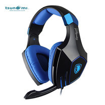 Tsunami SPELLOND PLUS SADES Fiber Wired Virtual 7.1 Surround Sound PC Gaming Headset - BLUE