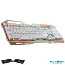 Tsunami GK-09 Alloy Panel Backlight Gaming USB Wired Keyboard Gold