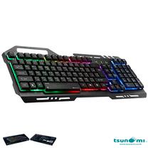 Tsunami GK-09 Alloy Panel Backlight Gaming USB Wired Keyboard Gray