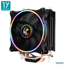 Tsunami SUPER STORM TSS-2000 130W CPU Cooler ( 4 HEAT PIPES + 12 CM NEON FAN) (P.W.M Function)(Intel/AMD Compatible