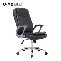 U-RO DECOR เก้าอี้สำนักงานสำหรับผู้บริหาร รุ่น AHEAD สีดำ