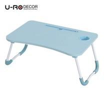 U-RO Decor รุ่น FANCY (แฟนซี) โต๊ะคอมอเนกประสงค์พับได้ สีฟ้า