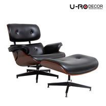 U-RO DECOR รุ่น BENELUX (เบเนลักซ์) สีดำ เก้าอี้/โซฟาพักผ่อนพร้อมสตูลวางเท้า เก้าอี้พักผ่อน, เก้าอี้หนัง, อาร์มแชร์, CHAIR