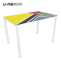 U-RO DECOR รุ่น KLASY-S Dining Table (BELIEVE design 110x70 cm.) - White leg