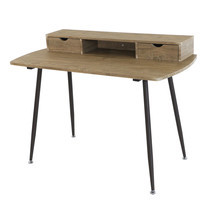 U-RO DECOR Working Desk รุ่น RENO - Oak /Dark Brown