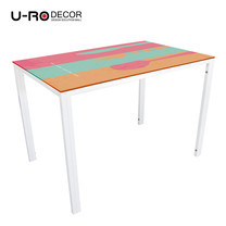 U-RO DECOR รุ่น KLASY-S Dining Table (RESTAURANT design 110x70 cm.) - White leg