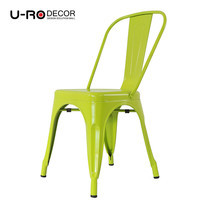 U-RO DECOR เก้าอี้เหล็ก รุ่น ZANIA-C (ซาเนีย-ซี) - สีเขียวแอปเปิ้ล