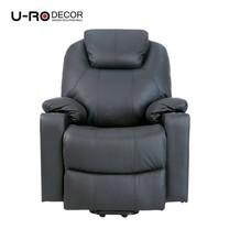U-RO Decor รุ่น ARENA (อารีน่า) เก้าอี้นวดปรับนอนได้ Massage Recliner Chair/Sofa สีดำ