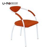 U-RO Decor รุ่น OSLO (ออสโล) เก้าอี้ดีไซน์ เก้าอี้รับประทานอาหาร สีส้ม