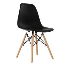 U-RO DECOR เก้าอี้รับประทานอาหาร รุ่น ACRON-K (แอครอน-เค) สีดำ/ขาไม้บีช