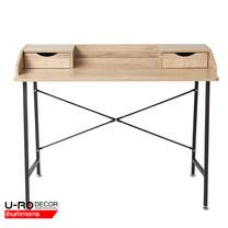 U-RO DECOR โต๊ะทำงานอเนกประสงค์/โต๊ะคอมพิวเตอร์ (Working Desk/Computer Desk) รุ่น ROCKFORD (ร็อกฟอร์ต) สีโอ๊ค/ขาสีน้ำตาลเข้ม