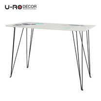U-RO DECOR รุ่น SMART DOG Office /Computer Desk (110x60x75 cm.) - White /Black leg
