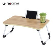 U-RO Decor รุ่น FANCY (แฟนซี) โต๊ะคอมอเนกประสงค์พับได้ สีโอ๊ค