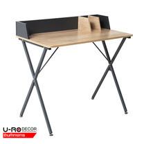 U-RO DECOR โต๊ะทำงานอเนกประสงค์/โต๊ะคอมพิวเตอร์ (Working Desk/Computer Desk) รุ่น EXTREME (เอ็คซทรีม) สีโอ๊ค/ขาสีเทา