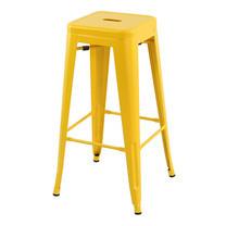 U-RO DECOR เก้าอี้บาร์สตูลเหล็ก รุ่น ZANIA-L (ซาเนีย-แอล) - สีเหลือง