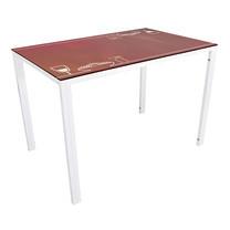U-RO DECOR รุ่น KLASY-S Dining Table (NOODLES design 110x70 cm.) - White leg