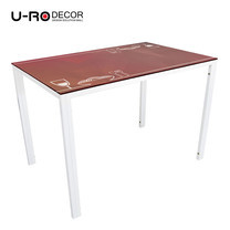U-RO DECOR รุ่น KLASY-S Dining Table (NOODLES design 110x70 cm.) - White leg