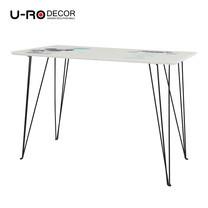U-RO DECOR รุ่น SMART DOG Office /Computer Desk (110x60x75 cm.) - White /Black leg