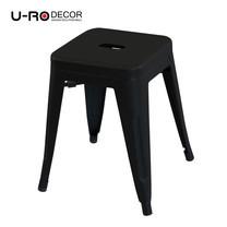 U-RO DECOR เก้าอี้สตูลเหล็ก รุ่น ZANIA-S (ซาเนีย-เอส) - สีดำ