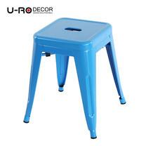 U-RO DECOR เก้าอี้สตูลเหล็ก รุ่น ZANIA-S (ซาเนีย-เอส) - สีฟ้า