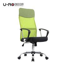 U-RO DECOR เก้าอี้สำนักงานสำหรับผู้บริหาร รุ่น SUN-F สีเขียว/เบาะนั่งสีดำ