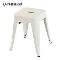 U-RO DECOR เก้าอี้สตูลเหล็ก รุ่น ZANIA-S (ซาเนีย-เอส) - สีขาว