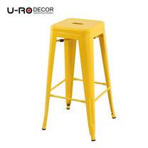 U-RO DECOR เก้าอี้บาร์สตูลเหล็ก รุ่น ZANIA-L (ซาเนีย-แอล) สีเหลือง