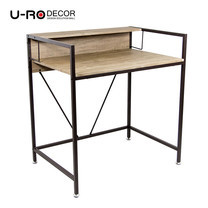 U-RO DECOR Working Desk รุ่น LINCOIN - Oak /Dark Brown